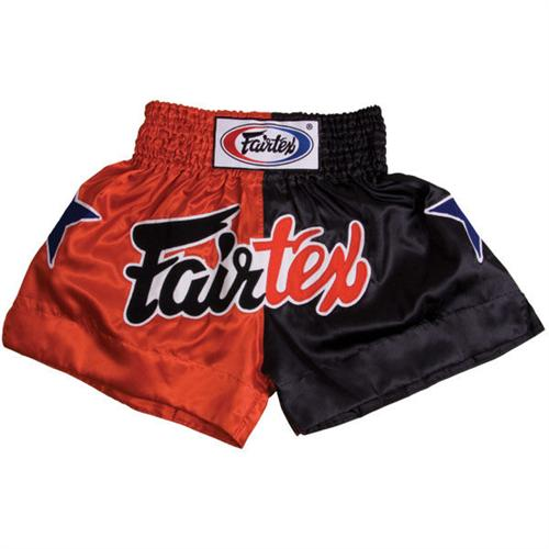 Fairtex Thai Trunks (Red/Black Combo)